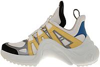 Женские кроссовки Louis Vuitton Archlight White/Yellow (в стиле Луи Витон) белые