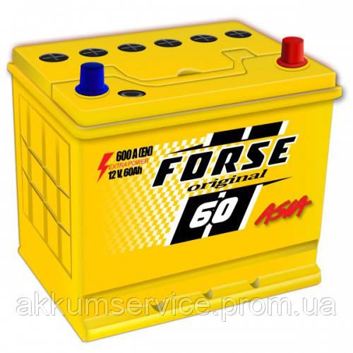 Аккумулятор автомобильный FORSE ORIGINAL ASIA 60AH R+ 600A MF (D23) нижнее крепление