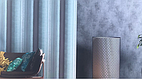Обои виниловые на флизелине Marburg Loft 59319 полосы размытые бирюзовые черные серебристые