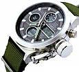 Часы мужские наручные AMST Biden+фирменная коробка в подарок nylon green-silver-black, фото 2