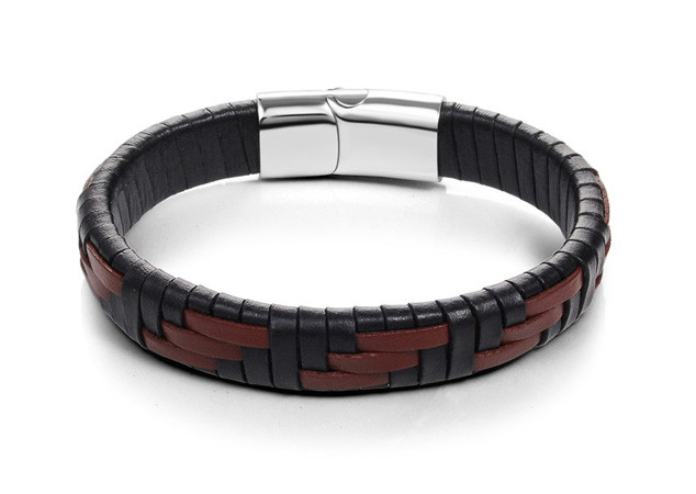 Мужской кожаный браслет Primo Cowboy Lux 22