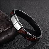 Мужской кожаный браслет Primo Cowboy Lux 20.5, фото 2