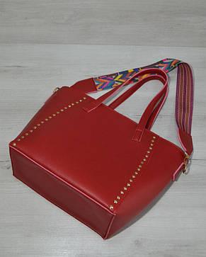 Сумка – яркий ремень красного цвета, фото 2