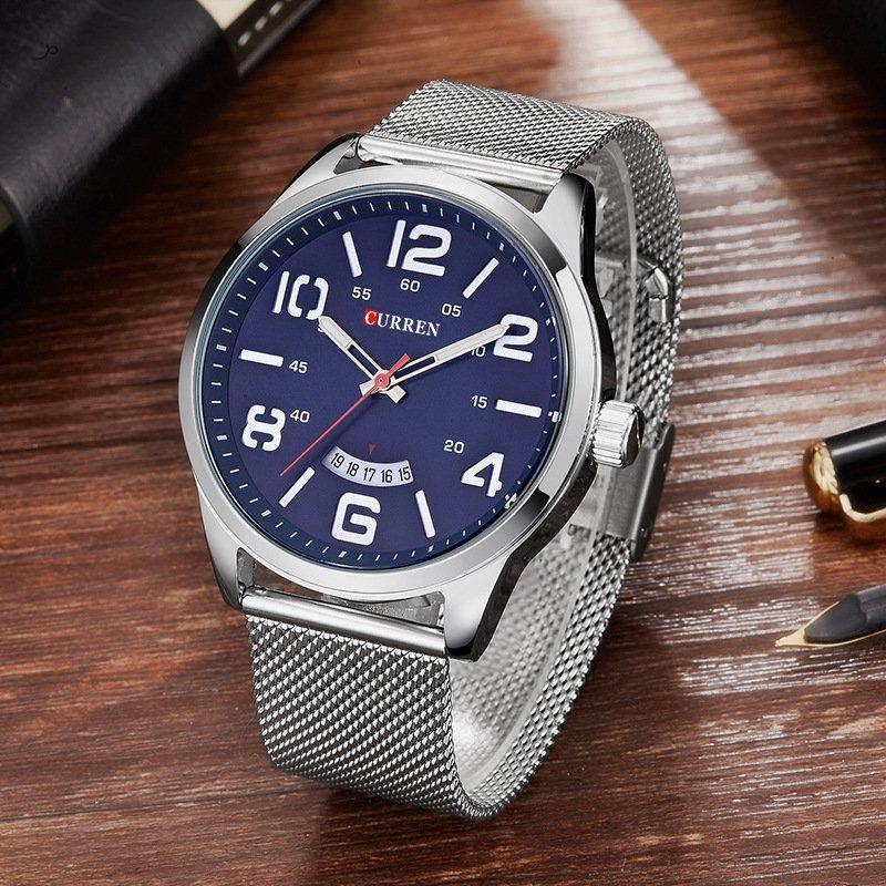 Часы мужские Curren LeRoy silver-blue