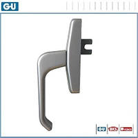 Ручка оконная GU для алюминия (серебро), фото 1