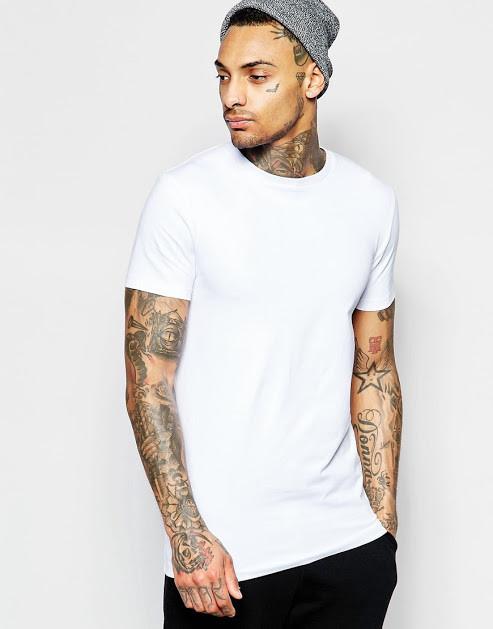 Мужская хлопковая белая однотонная футболка