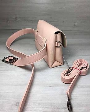 Женская сумка на пояс- клатч Белла пудрового цвета, фото 2