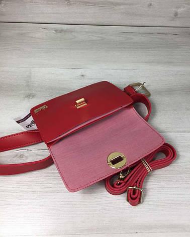 741426dab03e Женская сумка на пояс- клатч Арья красного цвета: продажа, цена в ...