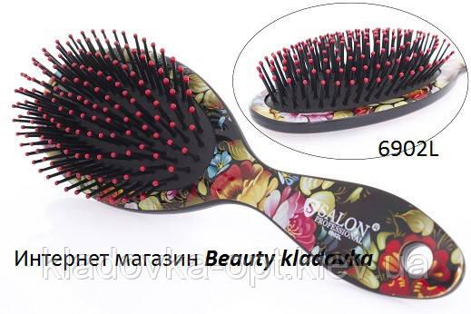Расчёска массажная Salon Professional 6902L  цвет в ассортименте