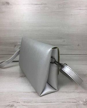 Женская сумка- клатч Келли серебряного цвета (никель), фото 2