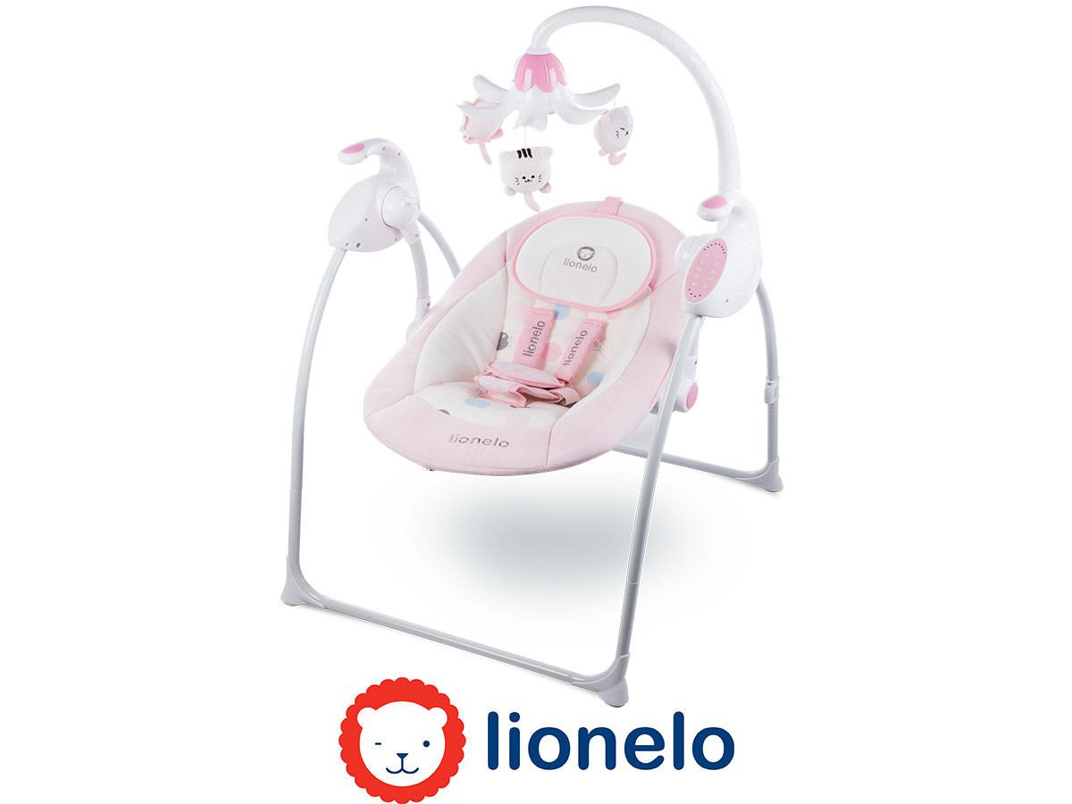 Детский шезлонг качалка Lionelo Robin Pink