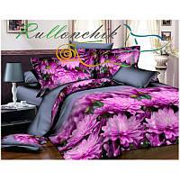 3D Полуторное постельное белье Ranforce - Хризантемы
