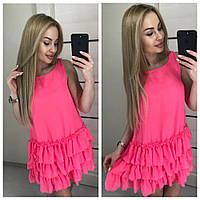 Летнее короткое молодежное платье