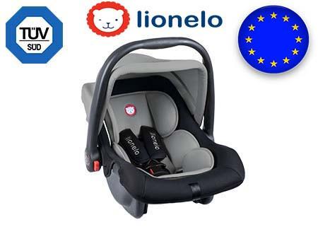 Детское автокресло Автолюлька Lionelo Noa Plus (0-13 кг) Grey Польша
