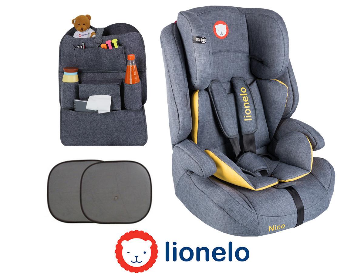Детское автокресло Lionelo Nico (9-36 кг) Yellow Польша