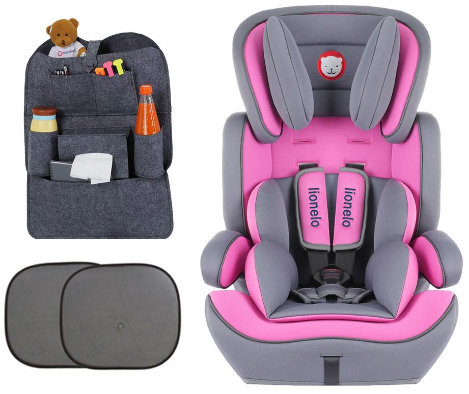 Детское автокресло Lionelo Levi Plus Pink (9-36 кг) Польша