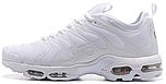 Женские кроссовки Nike Air Max Plus TN Ultra Triple White (Найк Аир Макс ТН) в стиле белые