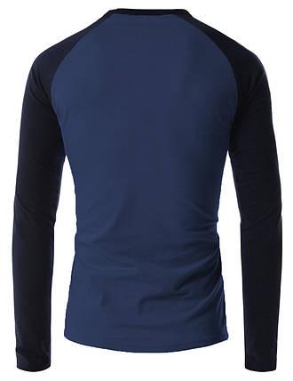 Облегающая мужская футболка с длинным рукавом, фото 2