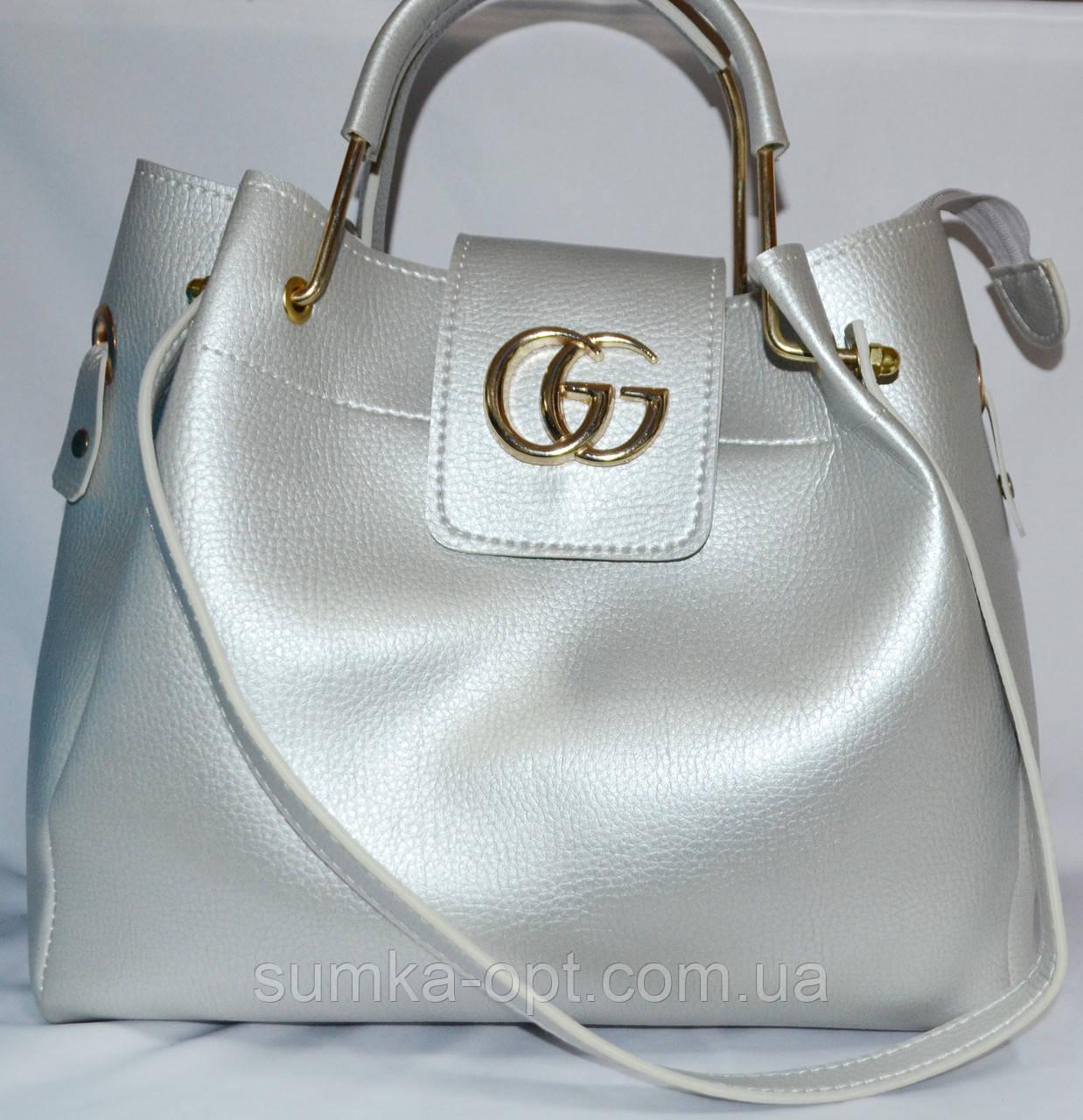 Женские сумки брендовые Gucci 2-в-1 (серебро)28 31  продажа, цена в ... 984fe5c84e3