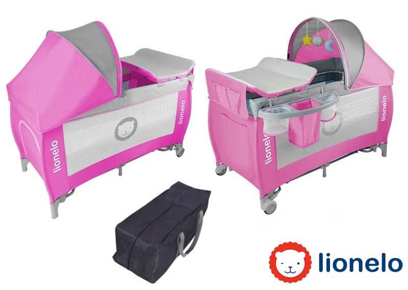 Детский манеж детская кроватка Lionelo Sven Plus Pink