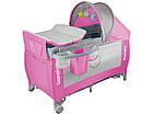 Детский манеж детская кроватка Lionelo Sven Plus Pink, фото 2