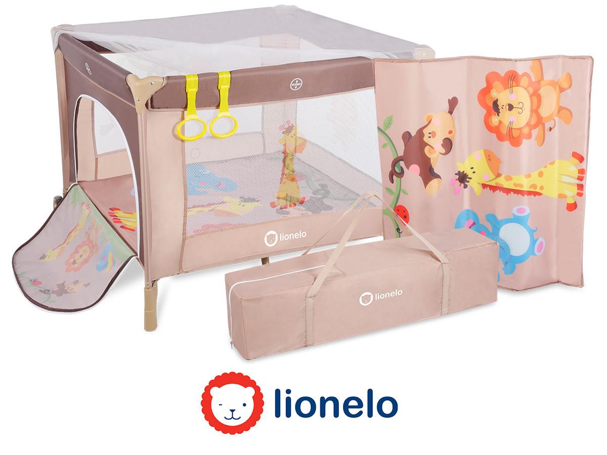 Детский манеж детская кроватка Lionelo Stella Brown Польща
