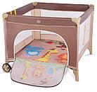 Детский манеж детская кроватка Lionelo Stella Brown Польща, фото 2