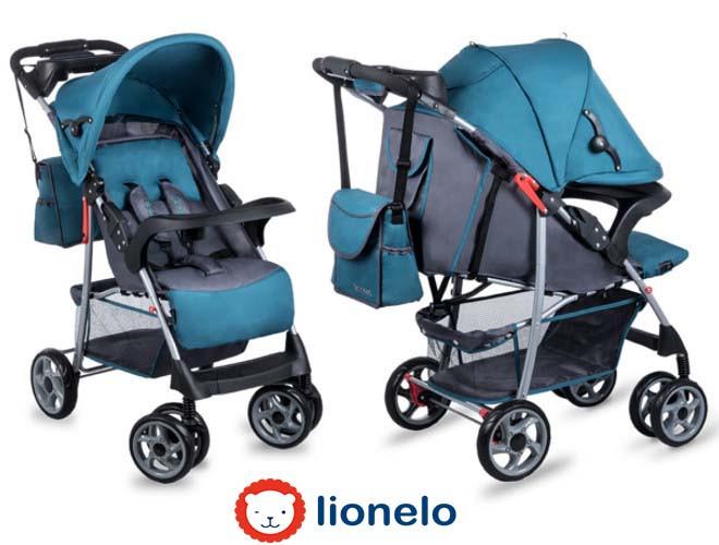 Детская прогулочная коляска Lionelo Emma Plus Turquoise