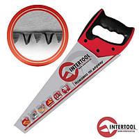 """Ножівка по дереву InterTool  L-450мм (7зуб х1""""), швидкий різ"""