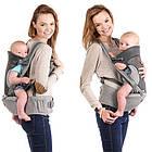 Рюкзак кенгуру для переноски детей Lionelo Lauren 2в1 Red, фото 4