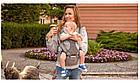 Рюкзак кенгуру для переноски детей Lionelo Lauren 2в1 Red, фото 9