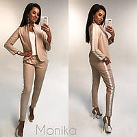 Стильный женский костюм с брюками 16211