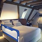 Защитная барьерка на кроватку перегородка на кровать Lionelo Eva Blue, фото 10