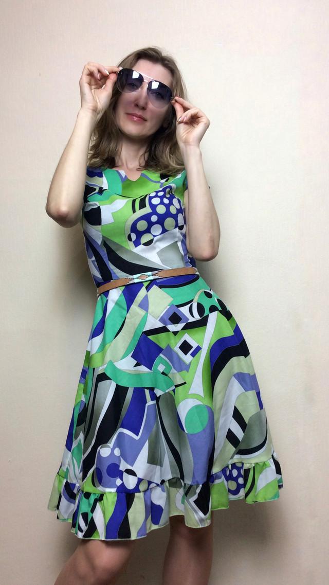 Платье летнее с рюшей П232