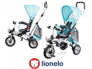 Детский трехколесный велосипед с родительской ручкой  Lionelo TIM PLUS Blue