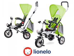 Детский трехколесный велосипед с родительской ручкой  Lionelo TIM PLUS Green