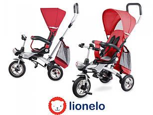 Детский трехколесный велосипед с родительской ручкой  Lionelo TIM PLUS Red
