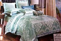 Двуспальное жаккардовое постельное белье