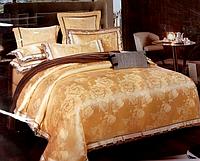Жаккардовое постельное белье евро стандарт (комплект)