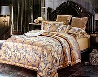 Атласное постельное белье евро стандарта (комплект)