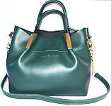 Женские сумки брендовые Prada 2-в-1 эко кожа (бордо)25*31, фото 4