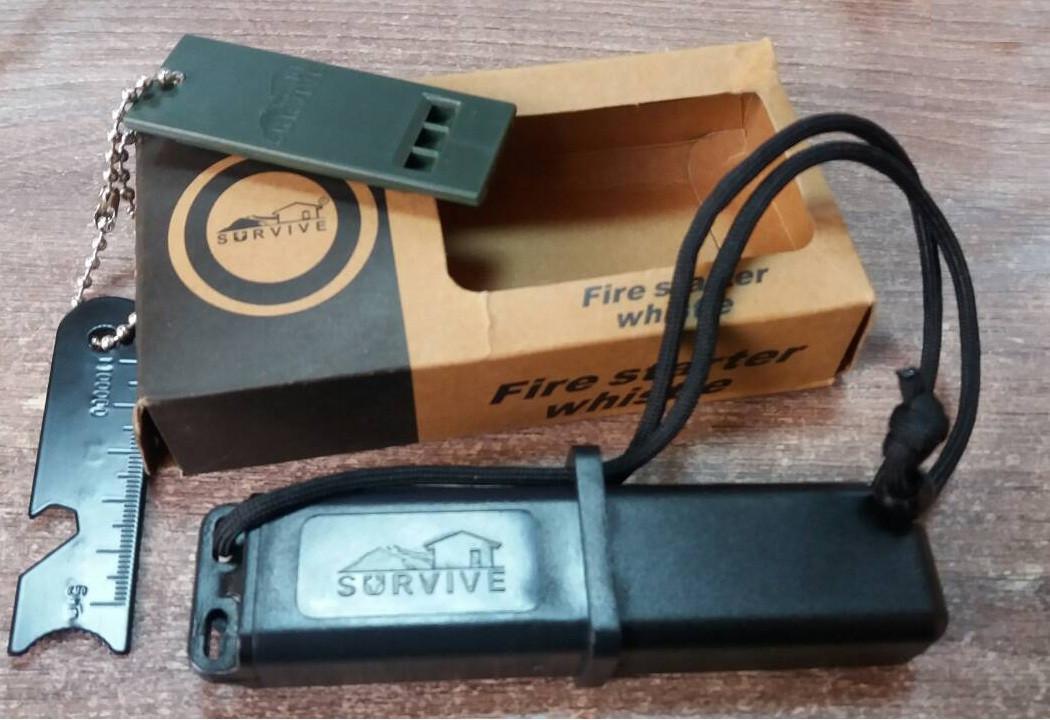 Походное огниво-кресало Firebox+свисток в подарок