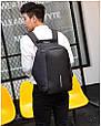 Рюкзак городской против кражи Antithief Lite (Антивор) black, фото 2
