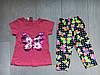 """Летний детский костюм для девочки 2-5 лет,""""Бабочка"""",розового цвета"""
