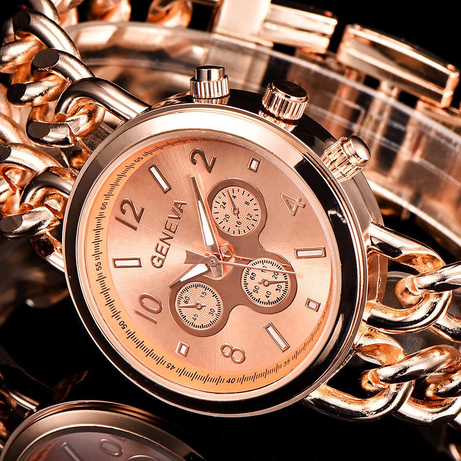 Часы женские наручные Geneva Imprez rose gold