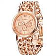 Часы женские наручные Geneva Imprez rose gold, фото 3