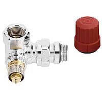 Клапан термостатический Danfoss RA-NCX трехосевой хром угловой правый