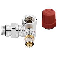 Клапан термостатический Danfoss RA-NCX трехосевой хром угловой левый