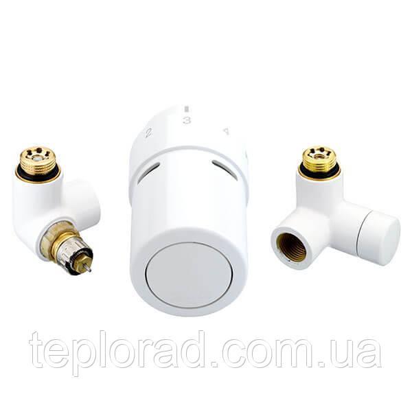 Комплект термостатический Danfoss RTX-set для полотенцесушителей Белый/левый