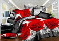3D Семейное постельное белье Sofia - Красные розы